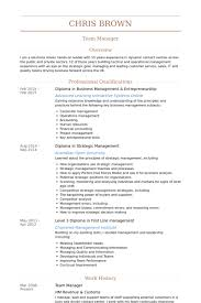 Example Of Australian Resume by Team Manager Resume Samples Visualcv Resume Samples Database
