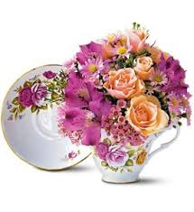 Flowers Columbia Sc - pink roses teacup bouquet in west columbia sc pineview florist