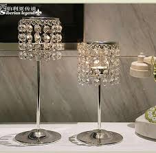 Crystal Candle Sconces Aliexpress Com Buy Romantic Hanging Glass Beads Candle Holder