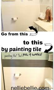 best ideas about painting bathroom walls pinterest did you know can paint tile even use multi