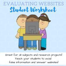evaluating websites and digital media worksheet worksheets