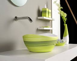 gorgeous glass vessel sink with stainless vessel sink base and