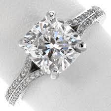 cushion cut split shank engagement rings design 2271 split shank cushion cut and engagement