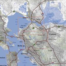 Berkeley Map Carquinez Strait And Berkeley Hills Trail Map