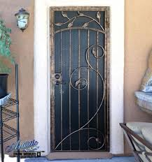 cool metal security screen doors with iron security doors door