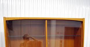 junk2funk mid century danish modern teak china cabinet hutch