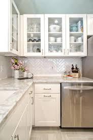 kitchen backsplash white cabinets dark countertop backsplashes