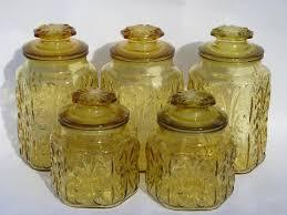 vintage kitchen canisters glass canister jars set w i