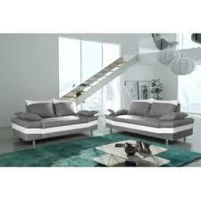 canap cuir gris clair modern sofa canapé bacau 3 2 gris clair simili cuir blanc gris
