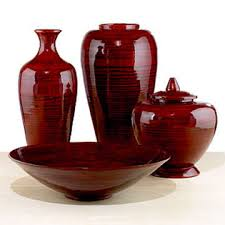 Red Glass Vases And Bowls Group 4 Items Spun Red Ox Blood Bamboo Vase Bowl Jar Global Sources