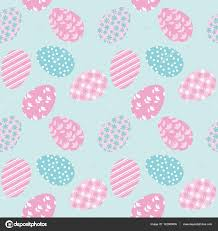 easter wrapping paper seamless pattern with white easter eggs and polka dots stock