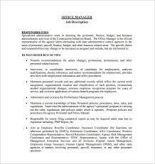 resume format administration manager job profiles it manager job description sle production manager job