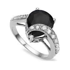 black sapphire engagement rings best 25 black sapphire ring ideas on black