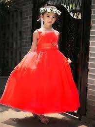 import kids dress party dress long puffy dress for girls from 2 8
