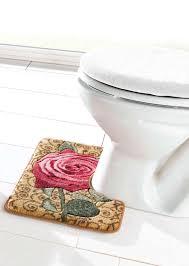 wc deckelbezug stand wc vorleger bad garnituren badezimmer wohnen