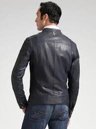 perforated leather motorcycle jacket mackage perforated leather jacket in black for men lyst