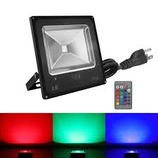 Outdoor Light Remote Control by 50w Rgb Led Security Flood Lights Color Changing 16 Colors U0026 4
