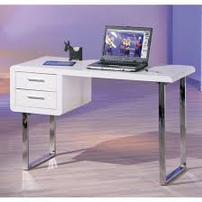 High Gloss White Desk by Carlo Computer Desk In High Gloss White With Chrome Legs High