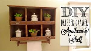 diy apothecary cabinet reclaimed old dresser drawer youtube