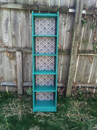 Repurpose Upcycle - shabby chic vintage turquoise hand painted by potluckconsignments