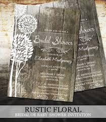 rustic bridal shower invitations rustic wood bridal shower invitations digital file printable