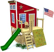 Outside Playhouse Plans Secret Clubhouse Plan Outdoor Forts Woodworking Plans And