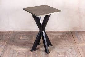 Zinc Top Bar Table High Bar Table Poseur Table With Pine Top