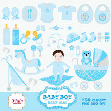 baby boy digital clipart baby blue baby shower baby crib baby