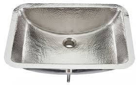 hammered nickel bathroom sink nickel starr bath sink
