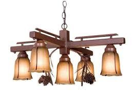 rustic burgundy pinecones inverted chandelier reclaimed