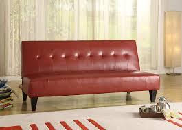 amazon com crown mark marco adjustable sofa red kitchen u0026 dining