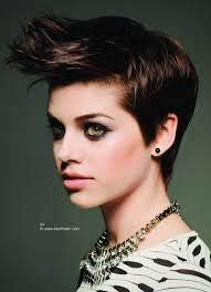 classy punk look side view of a short hairstyle with a