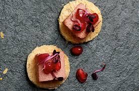 pate canapes brioche with pâté pomegranate tesco food