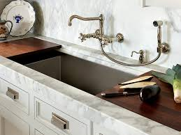 Custom Kitchen Faucets Chrome Wall Mounted Kitchen Faucet With Attached Soap Dish Within