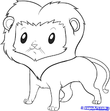 easy animal sketches lion