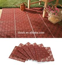 Recycled Tire Patio Tiles by Interlocking Floor Tiles Outdoor Roselawnlutheran