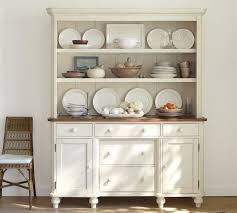 cottage vintage white buffet and hutch from pottery barn why oh
