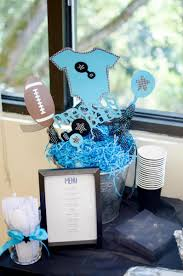 turquoise u0026 black onesie centerpiece baby shower decorations