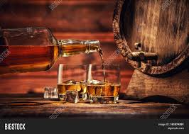Pouring Whiskey Bottle Two Glasses Image U0026 Photo Bigstock