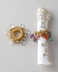 christmas napkin rings table linens four versailles napkin rings by kim seybert at neiman marcus