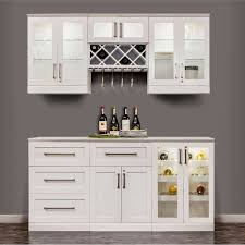 newage products home bar 7 piece set white