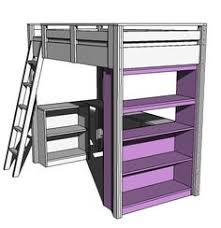 Ana White Camp Loft Bed With Stair Junior Height Diy Projects by How To Build A Loft Bed With A Desk Underneath Televisions