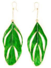 feather earrings online different style gold aurelie bidermann swan feather earrings