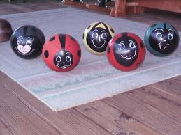 lady bowling balls