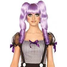 halloween dolly dolly bob wig with clip on ringlets cosplay halloween wigs