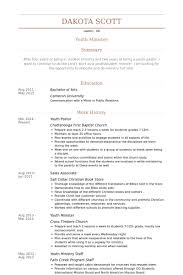 Youth Resume Template Youth Pastor Resume 14901