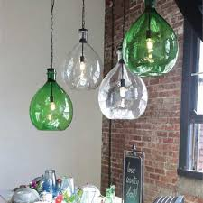 Green Glass Pendant Light Green Glass Pendant Lights In Home Designs