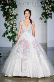wedding dresses for the 11 floral wedding dresses for the botanical loving weddingwire