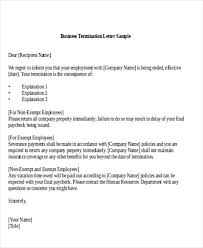 Business Letter Template With Cc Sample Termination Of Business Letter 6 Examples In Word Pdf