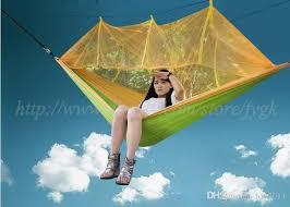 new nylon hammock mosquito net hammock sleeping bed outdoor